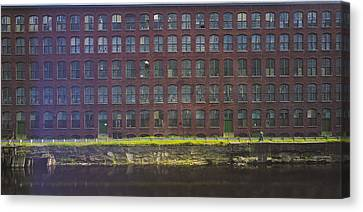 Fly Fishing Lawrence Canal Canvas Print by Jan W Faul