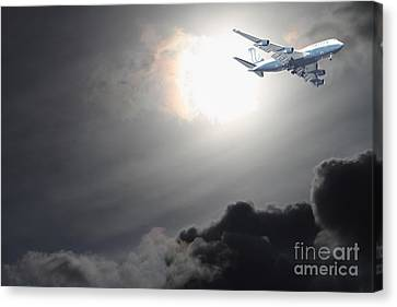 Flying The Friendly Skies Canvas Print by Wingsdomain Art and Photography
