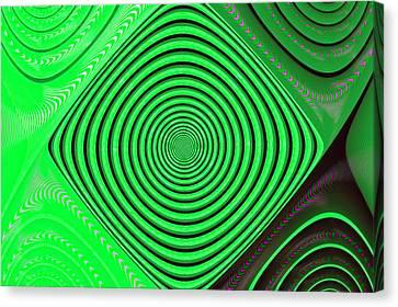 Focus On Green Canvas Print by Carolyn Marshall