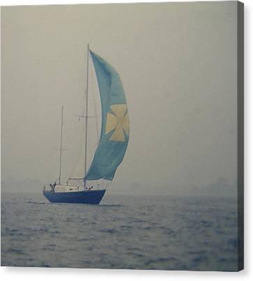 Foggy Genoa Canvas Print by Lin Grosvenor