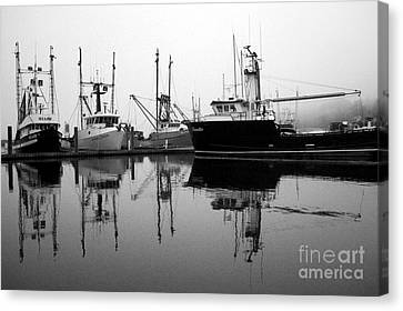 Foggy Reflections Bw Canvas Print by Kami McKeon