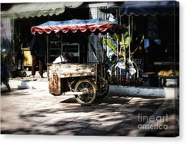 Food Stand Canvas Print by Thanh Tran
