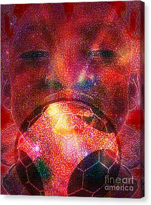 Football - Le Ballon De Calixte Canvas Print by Fania Simon