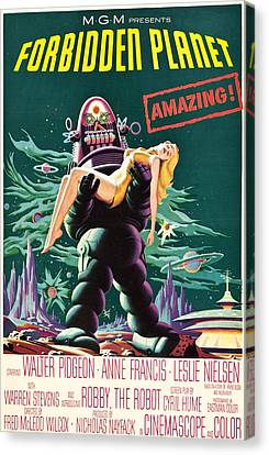 Forbidden Planet, Robby The Robot, Anne Canvas Print by Everett