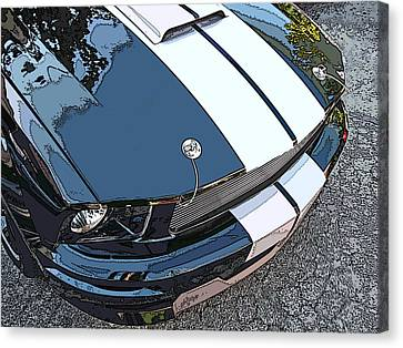 Ford Shelby Gt Nose Study Canvas Print by Samuel Sheats