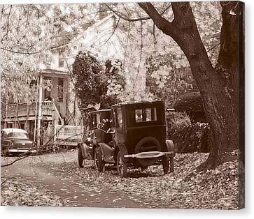 Fords At Harpers Ferry Canvas Print by Williams-Cairns Photography LLC