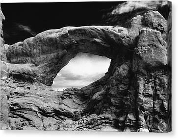 Foreboding Rock Formation Canvas Print by Richard Elkins