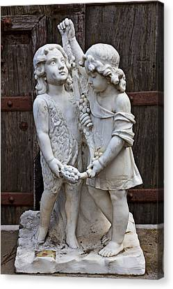 Forgotten Statue Canvas Print by Garry Gay