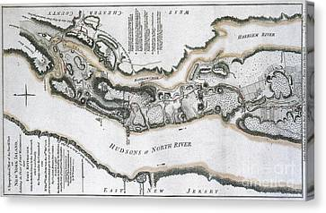 Fort Washington Attacks, 1776 Canvas Print by Photo Researchers