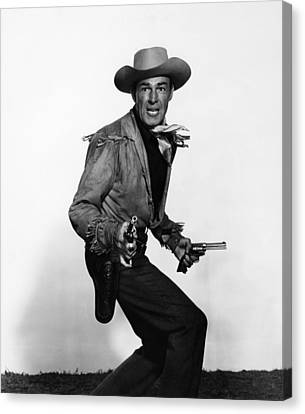 Fort Worth, Randolph Scott, 1951 Canvas Print by Everett