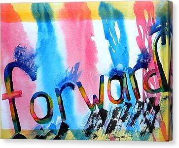 Forward Canvas Print by Warren Thompson