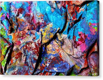 Found Art Studio Rag Canvas Print by John  Nolan