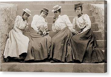 Four African American Women Students Canvas Print by Everett