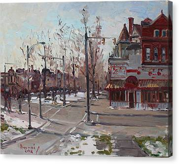 Four Corners At Bidwell Parkway Canvas Print by Ylli Haruni