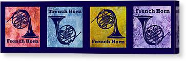 Four French Horns Canvas Print by Jenny Armitage