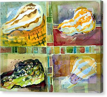 Four Gourds Canvas Print by Mindy Newman