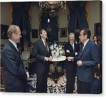 Four Presidents Ford Reagan Carter Canvas Print by Everett