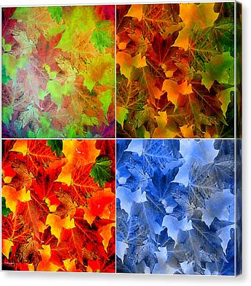 Four Seasons In Abstract Canvas Print by Lourry Legarde