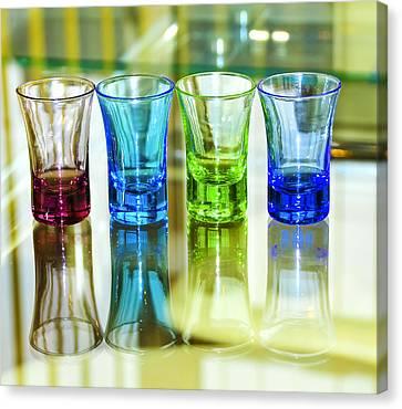 Four Vodka Glasses Canvas Print by Svetlana Sewell