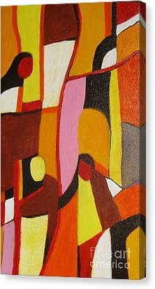 Four Women Canvas Print by Nedunseralathan R