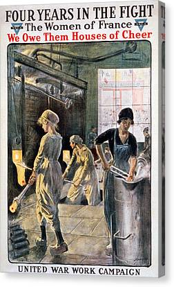 Four Years In The Fight. Women Working Canvas Print by Everett