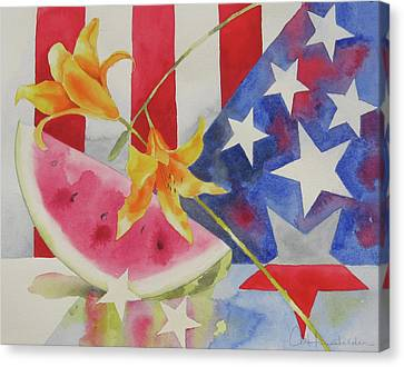 Fourth Of July Canvas Print by Amy Householder