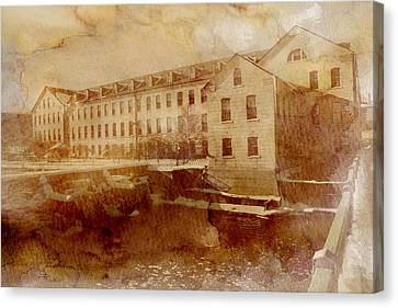 Fox River Mills Canvas Print by Joel Witmeyer