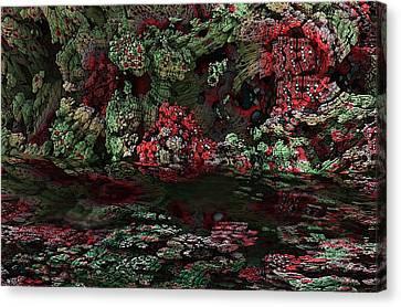 Fractal Alien Landscape Canvas Print by David Lane