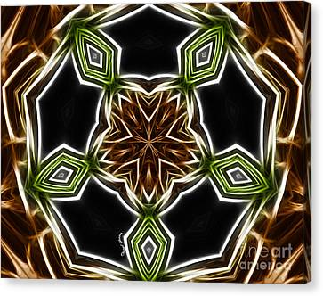 Fractal Kaleidoscope Canvas Print by Cheryl Young