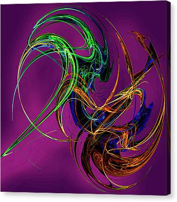 Fractal Tatoo-purple Canvas Print by Michael Durst