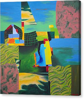 Fragments Number 8 Canvas Print by Randall Weidner