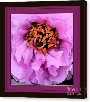 Framed In Purple - Abstract Floral Canvas Print by Carol Groenen