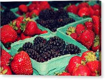 Framers Market Berries Canvas Print by Cathie Tyler