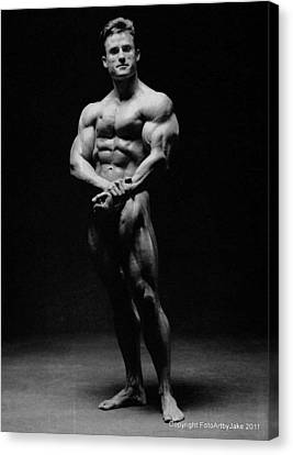 Francis Benfatto Muscle In Shadows Canvas Print by Jake Hartz