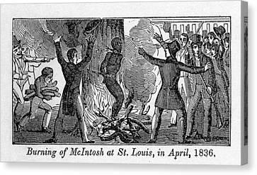 Francis L. Mcintosh, A Free Mulatto Canvas Print by Everett