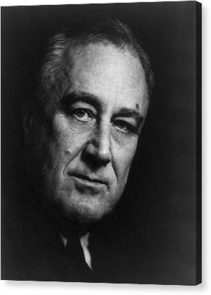 Franklin Delano Roosevelt  - President Of The United States Of America Canvas Print by International  Images
