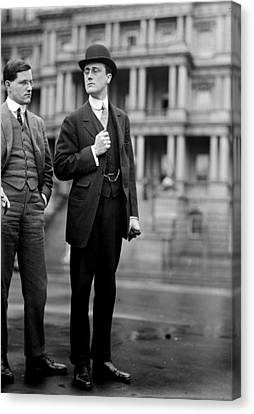 Franklin Delano Roosevelt As A Young Man - C 1913 Canvas Print by International  Images
