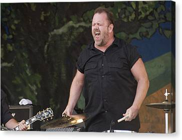 Fred Leblanc Of Cowboy Mouth Canvas Print by Terry Finegan