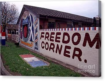 Freedom Corner Mural Canvas Print by Thomas R Fletcher