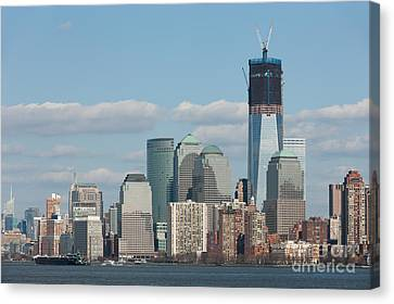 Freedom Tower And Manhattan Skyline II Canvas Print by Clarence Holmes