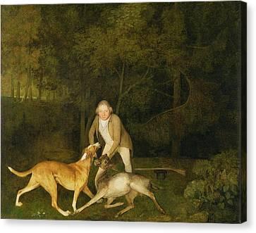 Freeman - The Earl Of Clarendon's Gamekeeper Canvas Print by George Stubbs