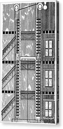 Freight Elevator, 1876 Canvas Print by Granger