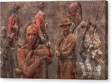 French And Indian War 1754 - 1763 Canvas Print by Randy Steele