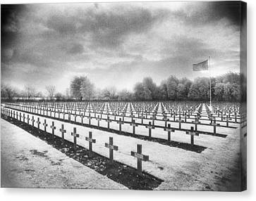French Cemetery Canvas Print by Simon Marsden