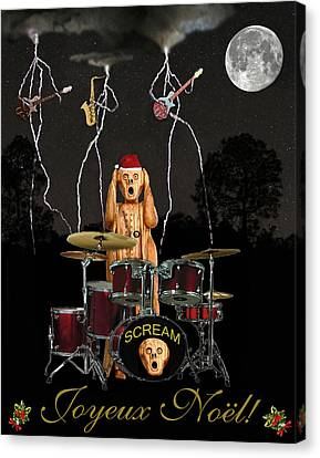 Rocks Canvas Print featuring the mixed media French Christmas Rock by Eric Kempson