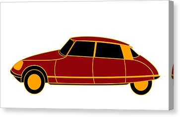 French Iconic Car - Virtual Car Canvas Print by Asbjorn Lonvig