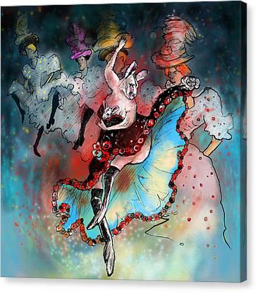 French Kankan Canvas Print by Miki De Goodaboom