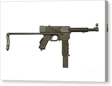 French Mat-49 Submachine Gun Canvas Print by Andrew Chittock