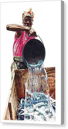 Fresh Fish Today Canvas Print by Gregory Jules