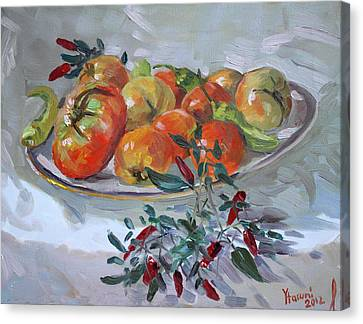 Fresh From The Garden Canvas Print by Ylli Haruni